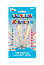 ***Number 1 Flashing Candle Holder with Birthday Candle
