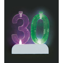 ***Number 30 Flashing Holder with Birthday Candles