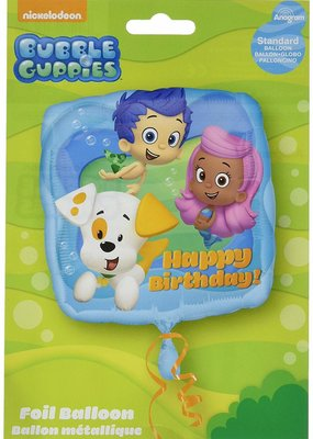 "***Bubble Guppies Birthday 18"" Mylar Balloon"