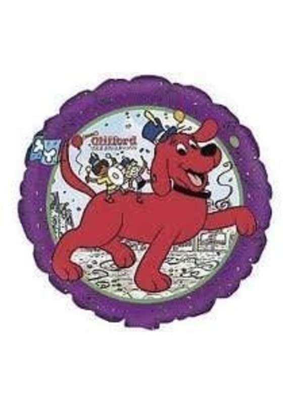 """M&D industries ***Clifford the Big Red Dog 18"""" Mylar Balloon"""