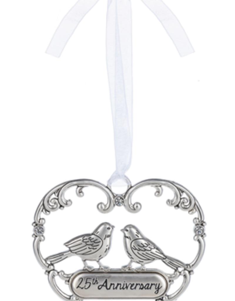 ***Love Birds Ornament Happy 25th Anniversary