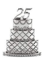 ***25th Wedding Anniversary Cake Figurine