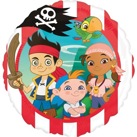 "***Jake and the Neverland Pirate 18"" Mylar Balloon"