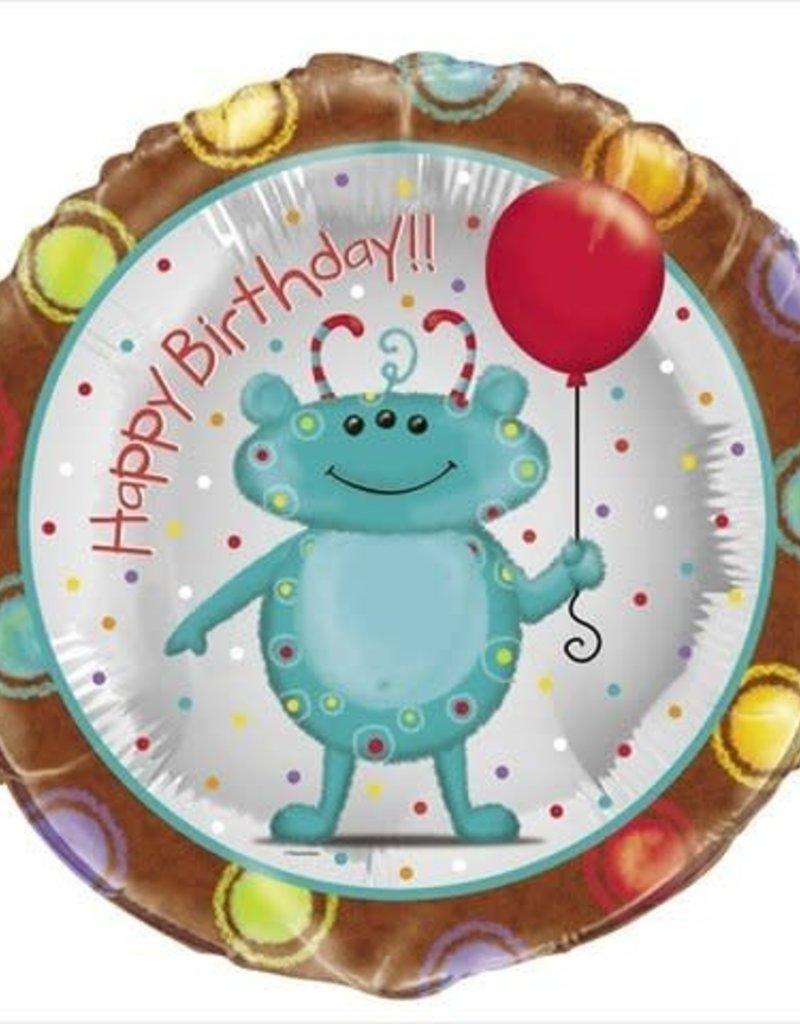 """***Cute Alien Birthday 18"""" Mylar Balloon"""