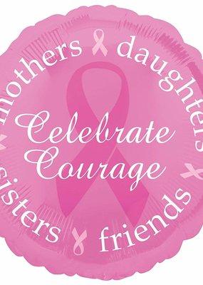 "***Pink Breast Cancer Awareness 18"" Mylar Balloon"
