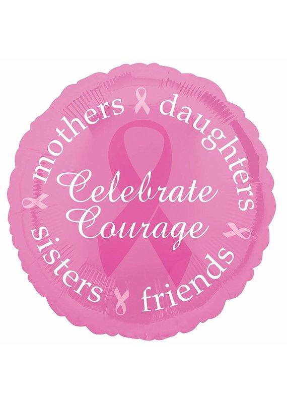 "****Pink Breast Cancer Awareness 18"" Mylar Balloon"