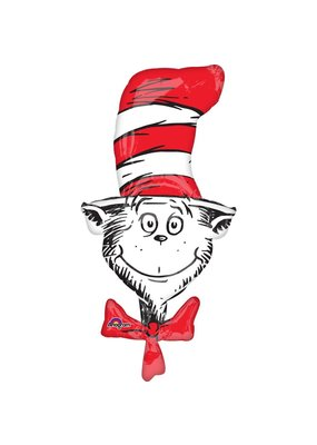"***Dr. Seuss Cat In the Hat 42"" Mylar Balloon"