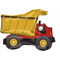 ***Dump Truck Super Shape Mylar Balloon