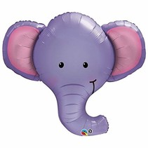 "***Elephant 39"" Mylar Balloon"
