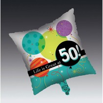 ***Life is Great at 50! Mylar Balloon
