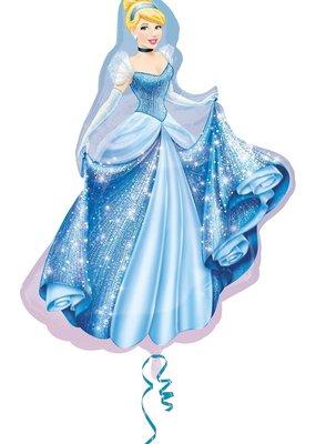 ***Cinderella Super Shape Mylar Balloon
