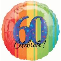 ***Celebrate 60 Mylar balloon