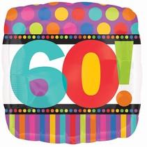 ***Stripe Polka Dot 60 Mylar Balloon