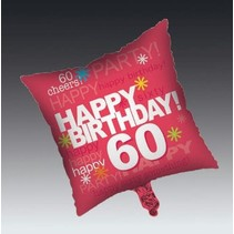 ***Time to Party 60 Square Mylar Balloon