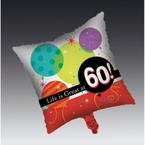 ***Life Is Great at 60! Mylar Balloon