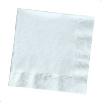 ***White 3ply Lunch Napkins 50ct