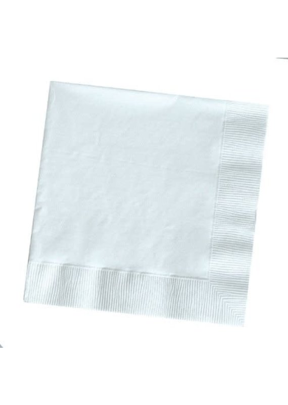 ****White 3ply Lunch Napkins 50ct