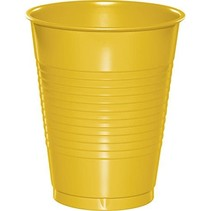 ***School Bus Yellow 16oz Plastic Cups 20ct