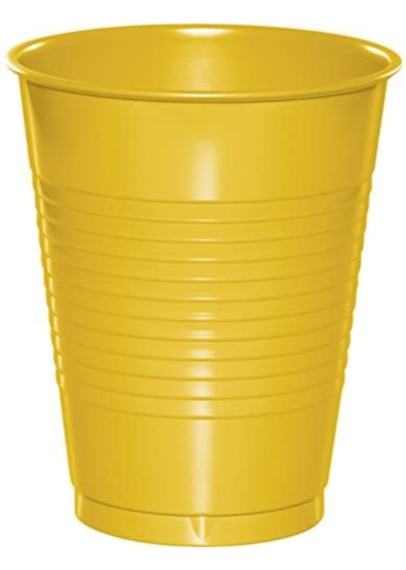 ****School Bus Yellow 16oz Plastic Cups 20ct