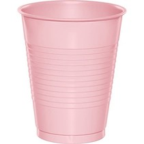 ***Classic Pink 16oz Plastic Cups 20ct