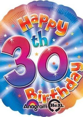 """***30th Birthday 18"""" Mylar Balloon"""