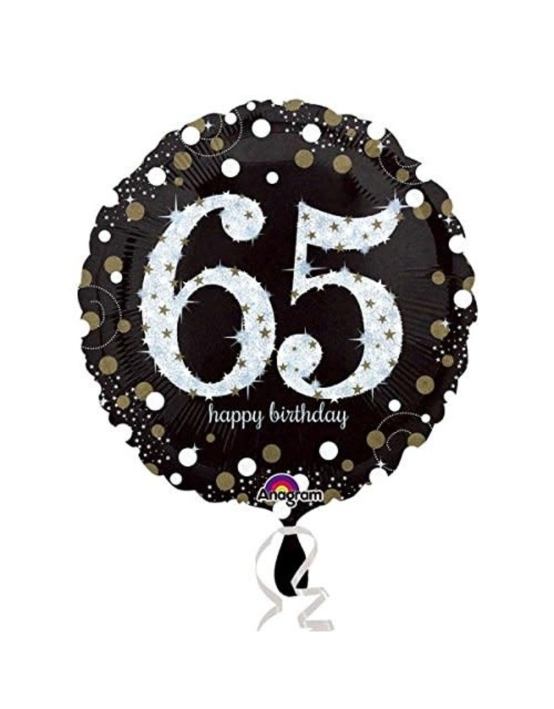 ****Sparkling Birthday 65 Mylar Balloon