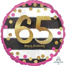 ***Pink and Gold 65 Mylar Balloon
