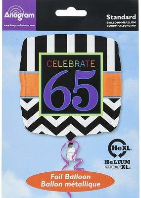 ***Celebrate 65 Mylar Balloon
