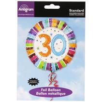 ***Radiant Birthday 30 Mylar Balloon