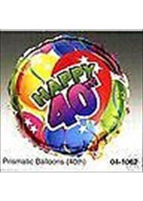 "****Forty 40 Birthday 18"" Mylar Balloon"