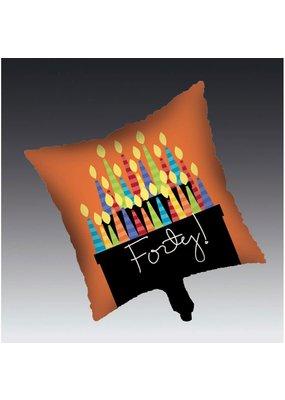 ****Great Birthday 40 Mylar Balloon
