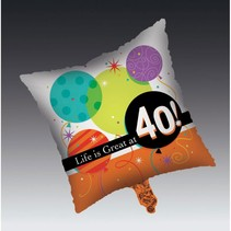 ***Life Is Great at 40 Mylar Balloon