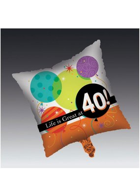 ****Life Is Great at 40 Mylar Balloon