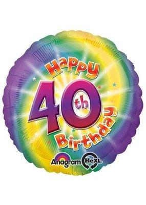 ****Happy 40th Birthday Mylar Balloon
