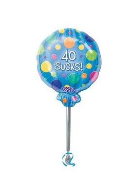 ****40 Sucks Lolly Pop balloon