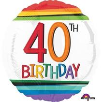 ***Rainbow Birthday 40 Mylar Balloon