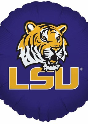 "***LSU Tigers Round Purple 18"" Mylar Balloon"