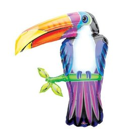 "***Toucan Super Shape 31"" Mylar Balloon"