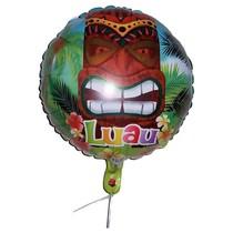 "***Luau Tiki 18"" Mylar Balloon"