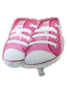 "***Baby Girl Shoes 21"" Mylar Balloon"