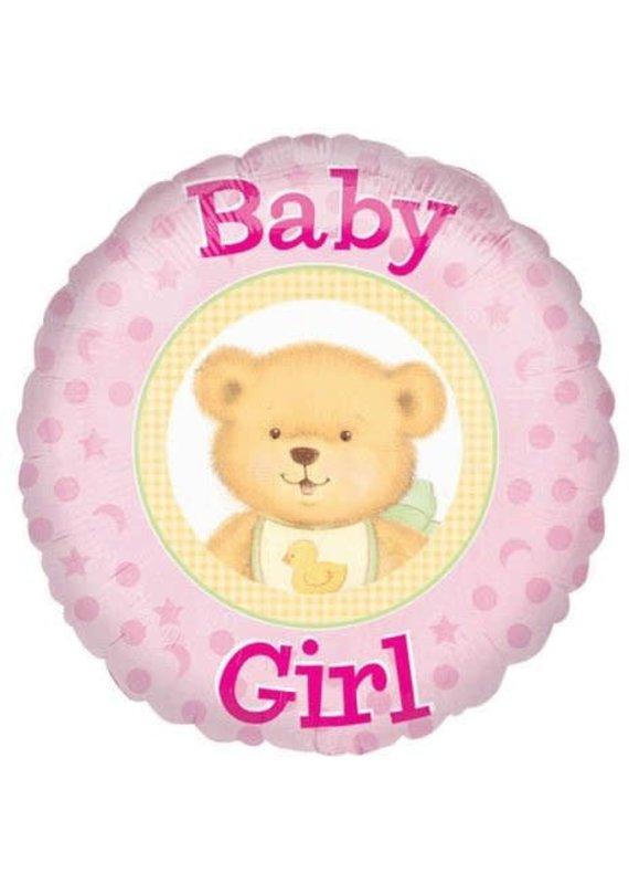 """****Baby Girl Bear 18"""" Mylar Balloon"""