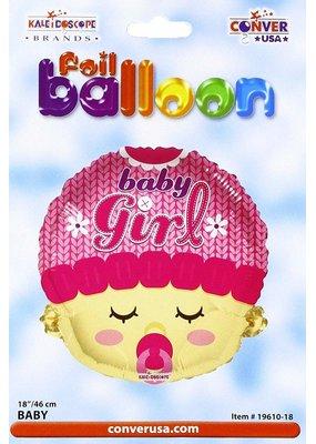 "***Baby Girl Pacifier 18"" Shaped Mylar Balloon"