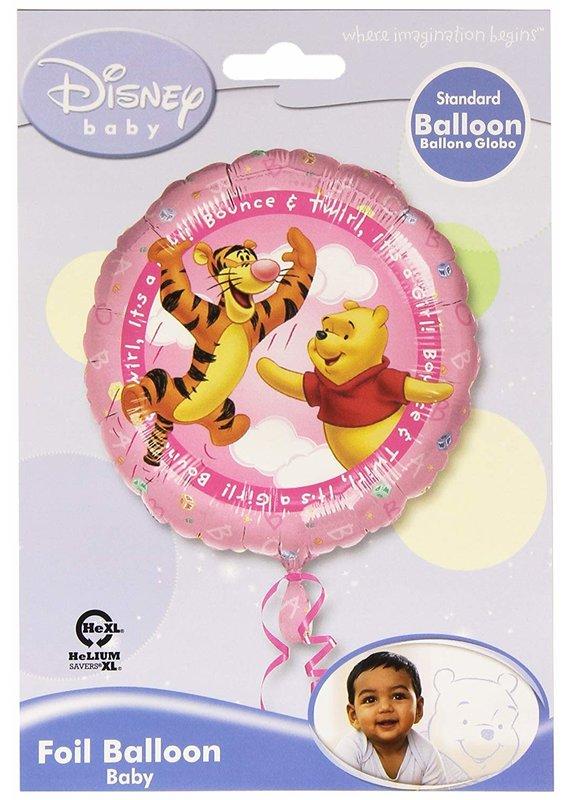 "M&D industries ***Pooh It's a Girl 18"" Mylar Balloon"