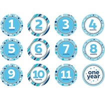 ***Blue Milestone Stickers - 12 Count