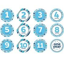 ***Blue Milestone Stickers - 12 Count