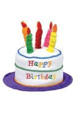 Pleasant Birthday Cake Hat Purple White Amys Party Store Personalised Birthday Cards Arneslily Jamesorg