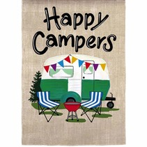 ***Happy Campers Travel Suede Flag