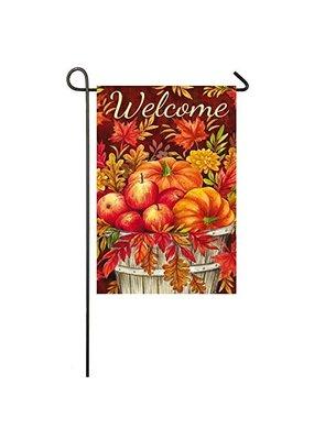 ***Apples & Pumpkin Suede Flag