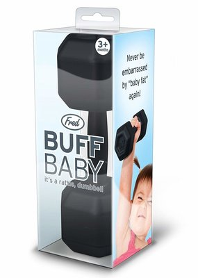 Fred & Friends ***Buff Baby Dumbbell Rattle