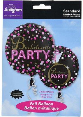 """***Bachelorette Party Dot 18"""" Mylar Balloon"""